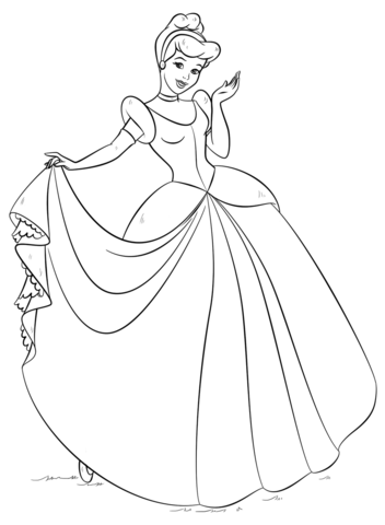 Cinderella Coloring Page From Cinderella Category Select