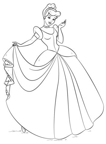 Cinderella Coloring Page Png 352 480 Princess Coloring Pages Cinderella Coloring Pages Disney Princess Coloring Pages