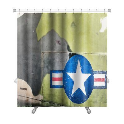 Gear New Patriotic Airplane With United States Air Force Sign Premium Single Shower Curtain Shower Liner Curtains Striped Shower Curtains