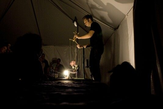Puppeteer at night. troycooperartphotography.com
