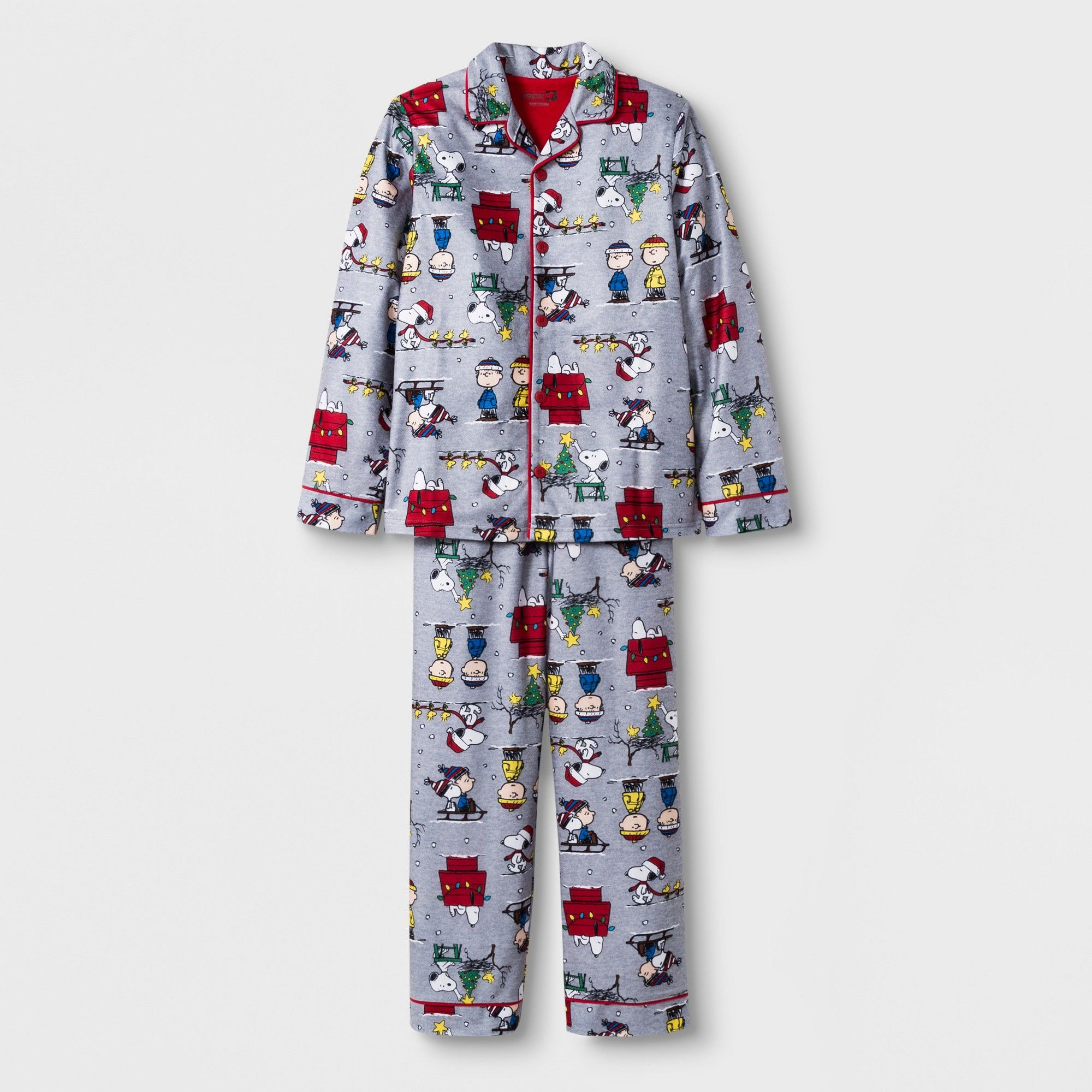 d1af30b8f4 Boys  Peanuts 2pc Pajama Set - Gray S in 2018