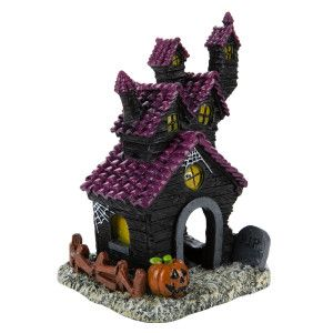 Top Fin® Haunted House Halloween Aquarium Ornament ...