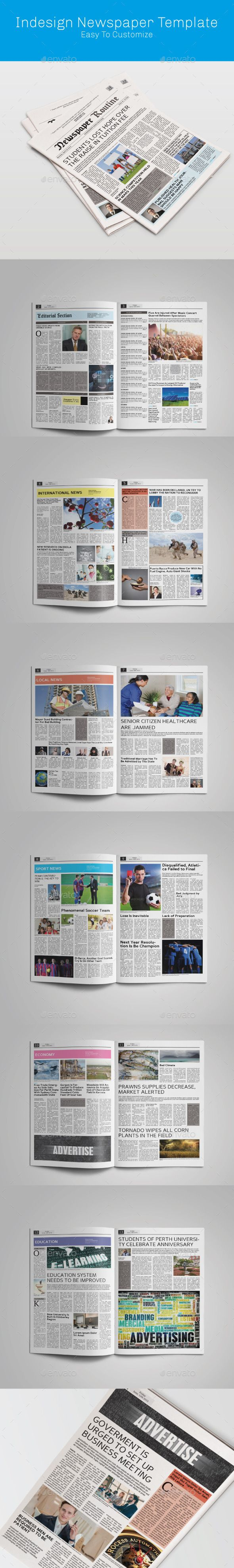 Tabloid Indesign Newspaper | Newsletter templates, Print templates ...