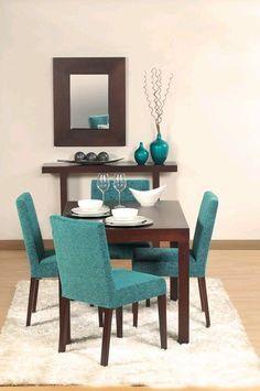 sillas de comedor color turquesa