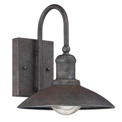 Charmant Artisan Rustic Industrial Outdoor Sconce Small