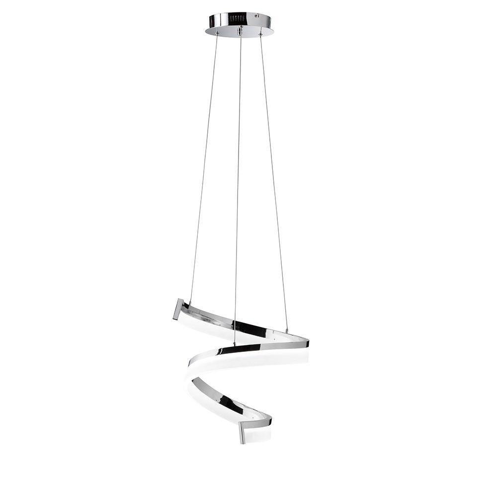 Wofi Extravagante LED Hängeleuchte FARE / 1700 Lumen / Chrom 7032.01 ...