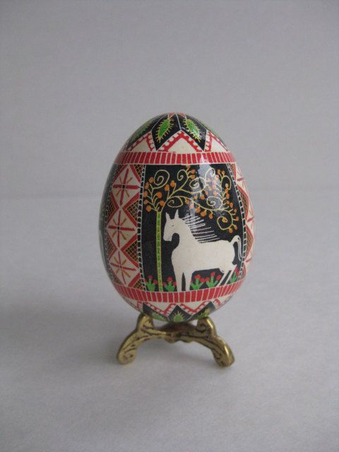 handpainted decorated chicken egg