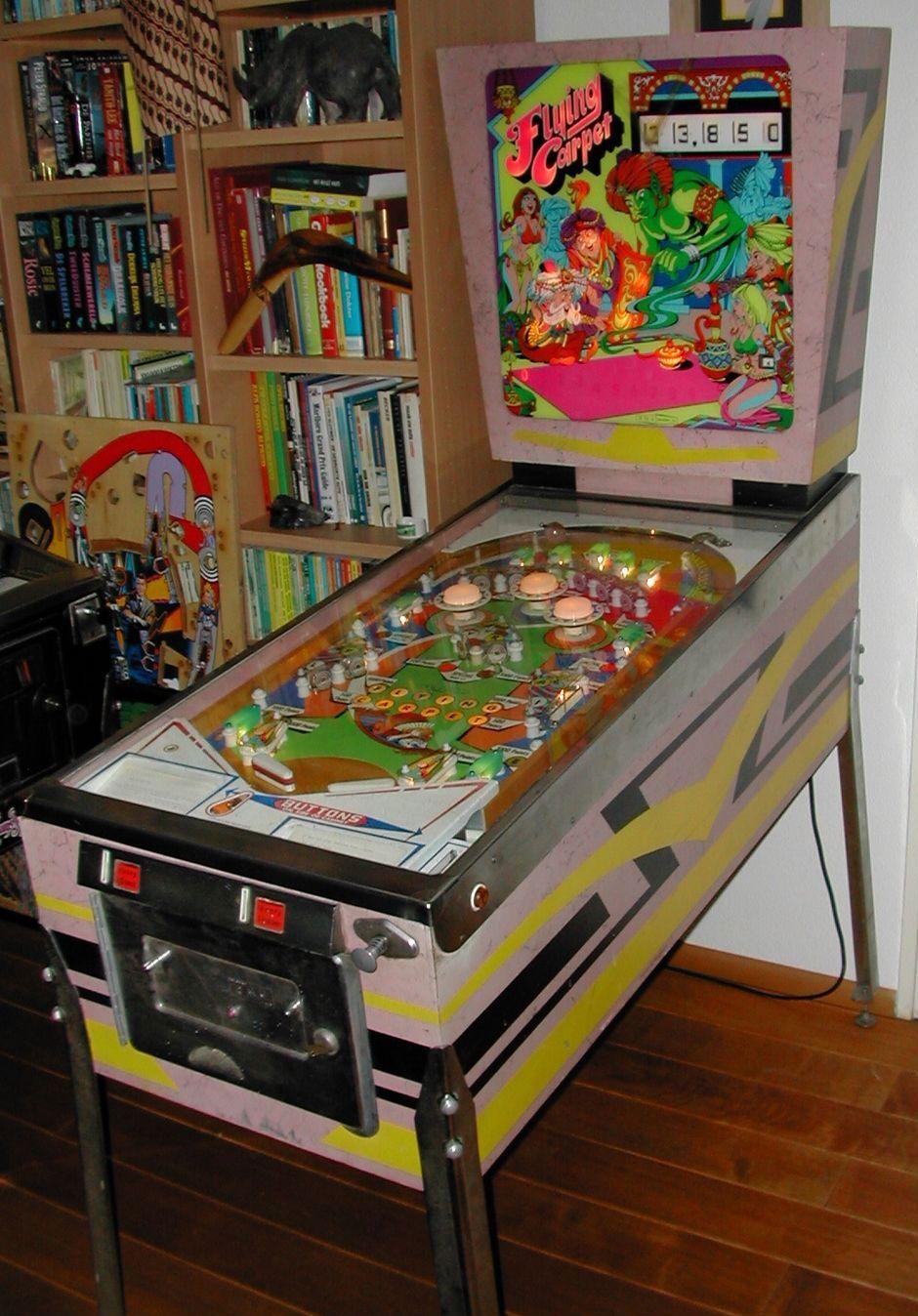 1972 Flying Carpet Renato Monanari Pinball Machine Pinball Flying Carpet Pinball Machine