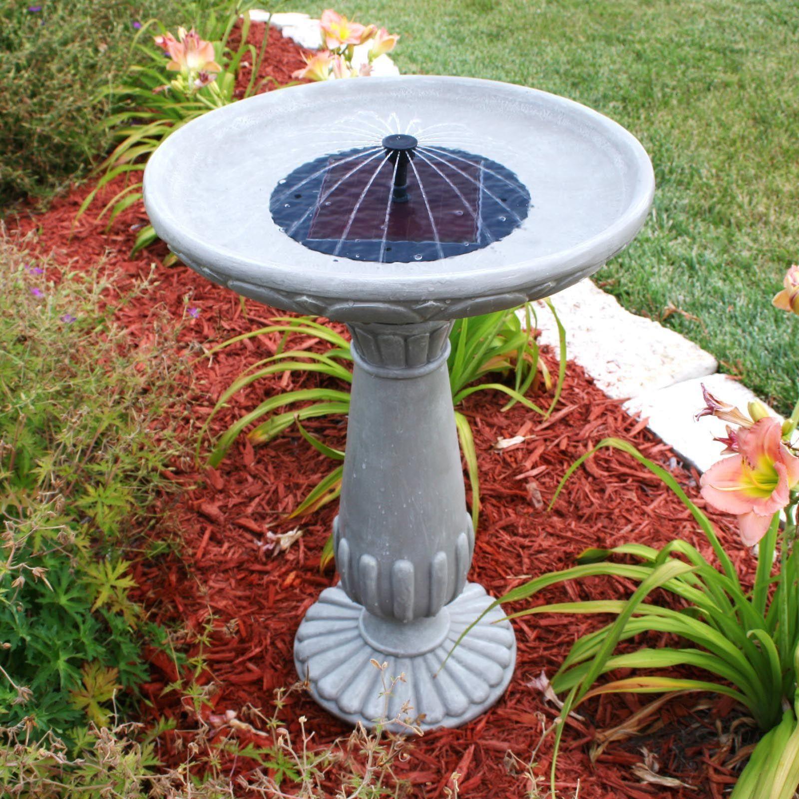 Diy solar heated bird bath solar bird bath solar