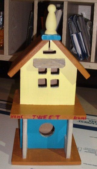 colorful outdoor birdhouse by SMILESbyMonaLisa on Etsy