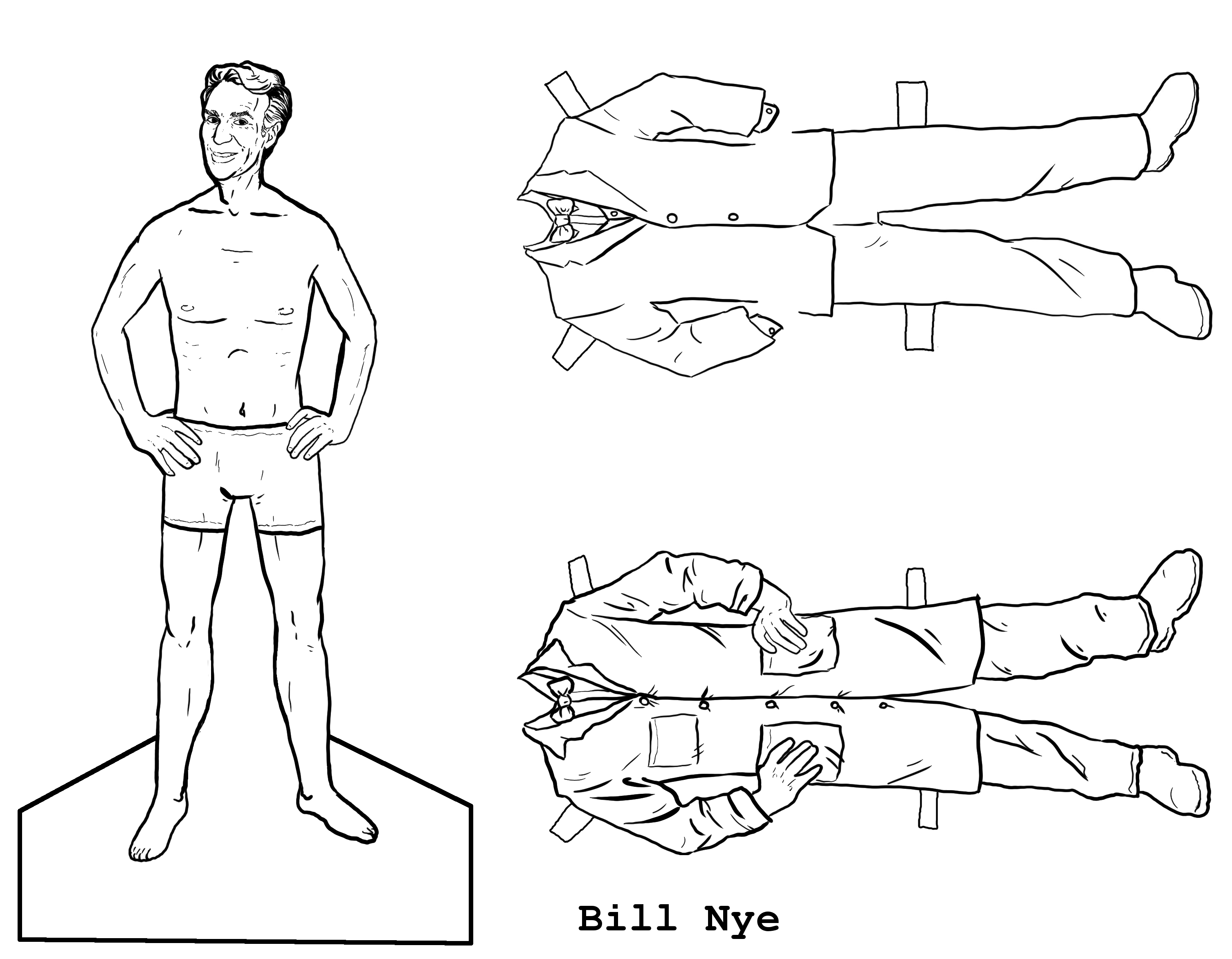 mad art lab bill nye the paper doll guy craft pinterest