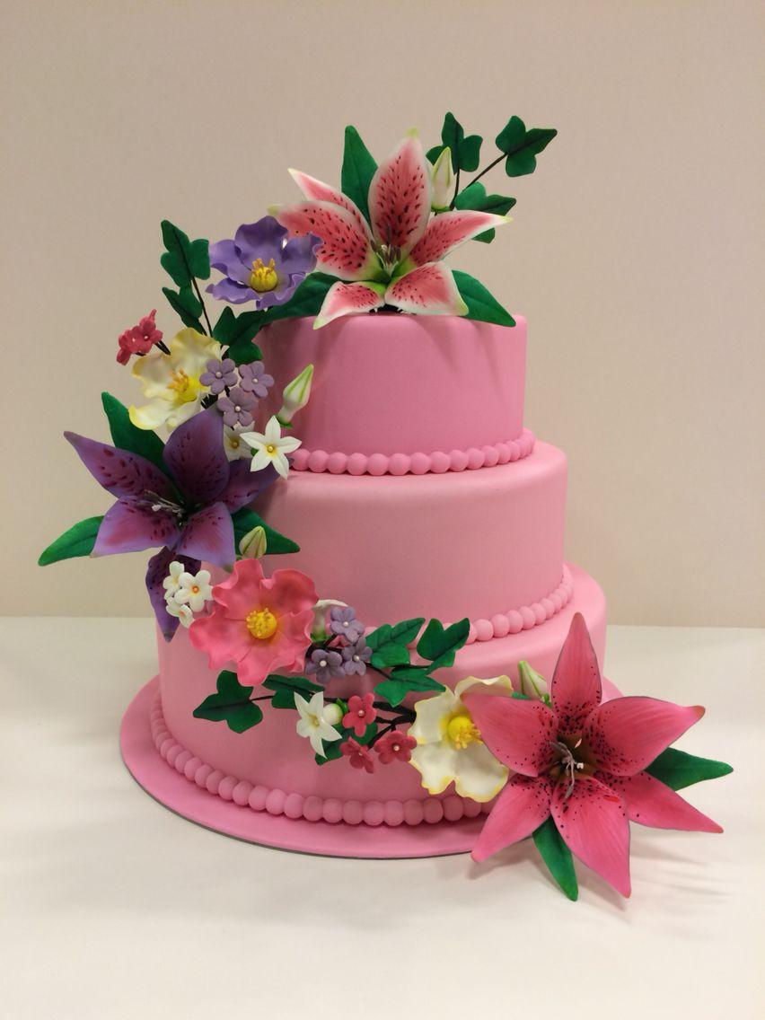 Wilton course 4 exam cake. | cake recipe | Pinterest | Cake ...