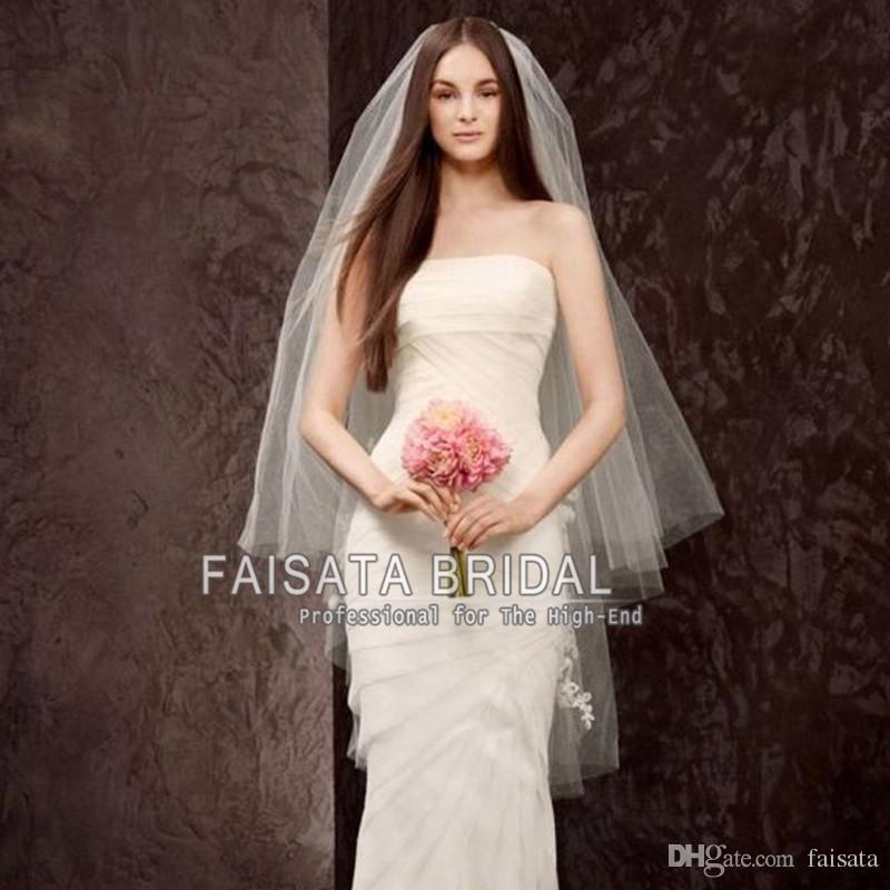Two Layers Bridal Veils Wedding Accessories Hair High Quality Cheap Veil Long