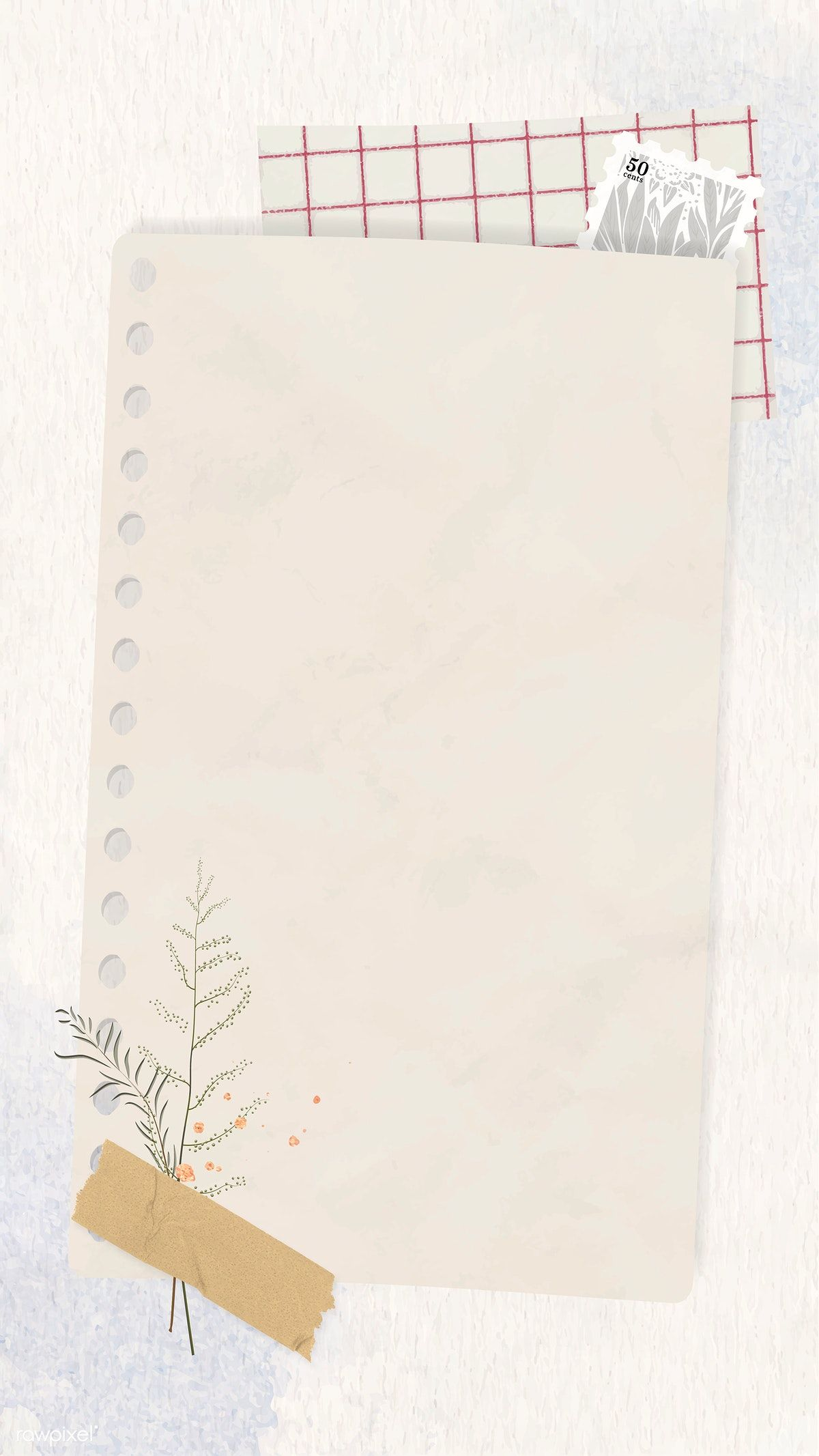 Download Premium Vector Of Ripped Paper Mobile Phone Wallpaper Vector Instagram Frame Template Paper Background Texture Powerpoint Background Design
