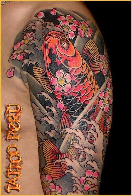 Tatuaje Brazo Completo Japones Buscar Con Google Peces Tattoos