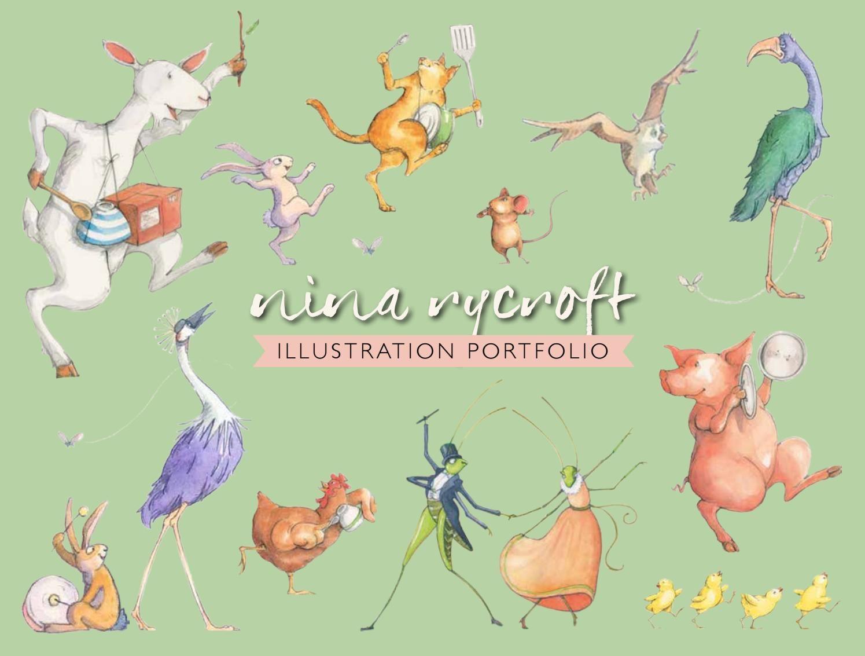 Nina Rycroft's Illustration Portfolio feature lots of animal characters