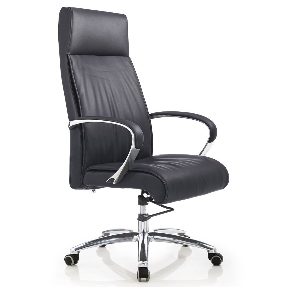 Forbes Genuine Leather Aluminum Base High Back Executive Chair | Zuri  Furniture
