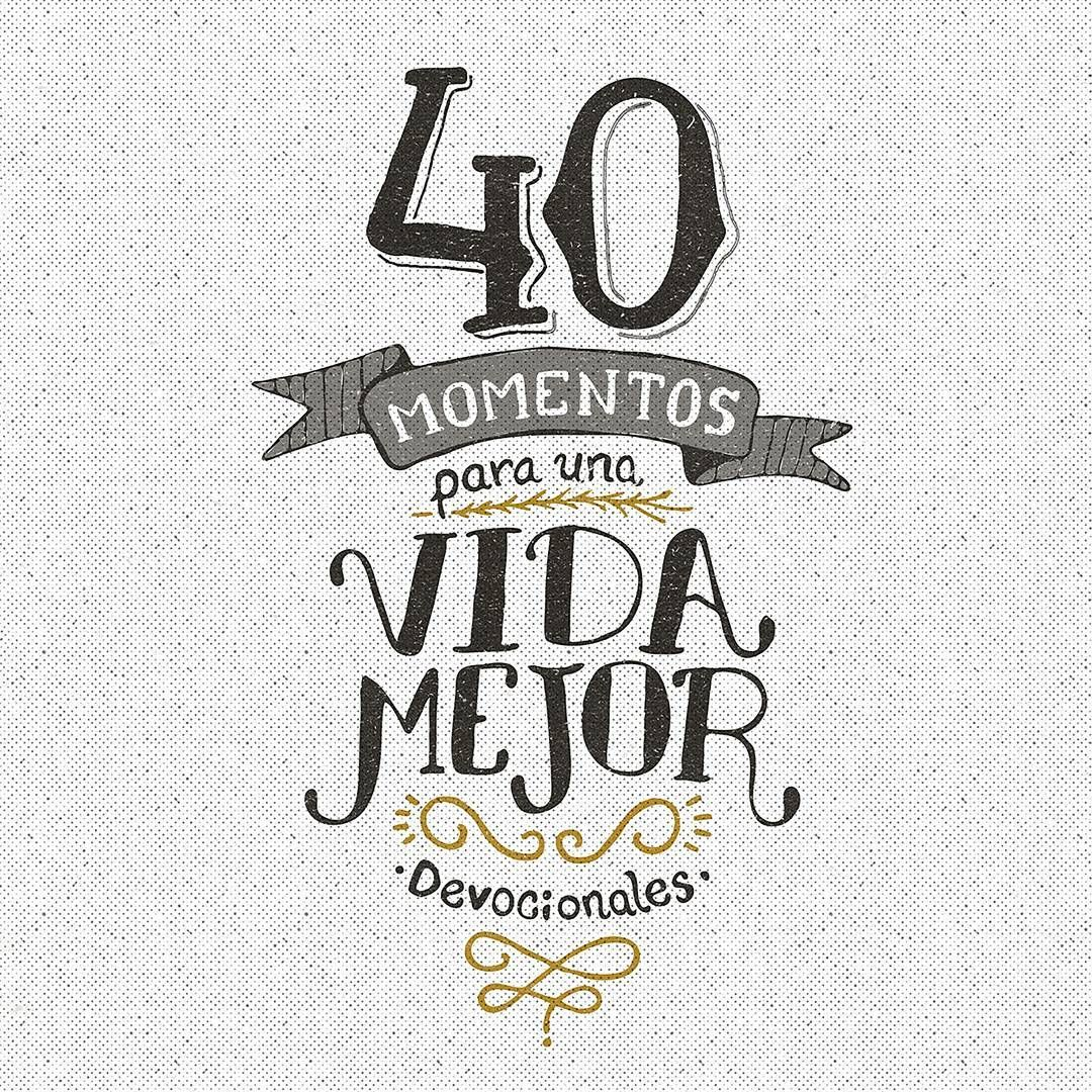 """Book cover of """"40 momentos"""". #thedesigntip #designindpiration #graphicdesigncentral #thedailytype #typespire #designspiration #calligritype #typographyinspired #typeverything #goodtype #typetopia #handmadefont #typegang #typographyinspired #thedailytype #welovetype #typelove #ilovetypography #StrengthInLetters"""