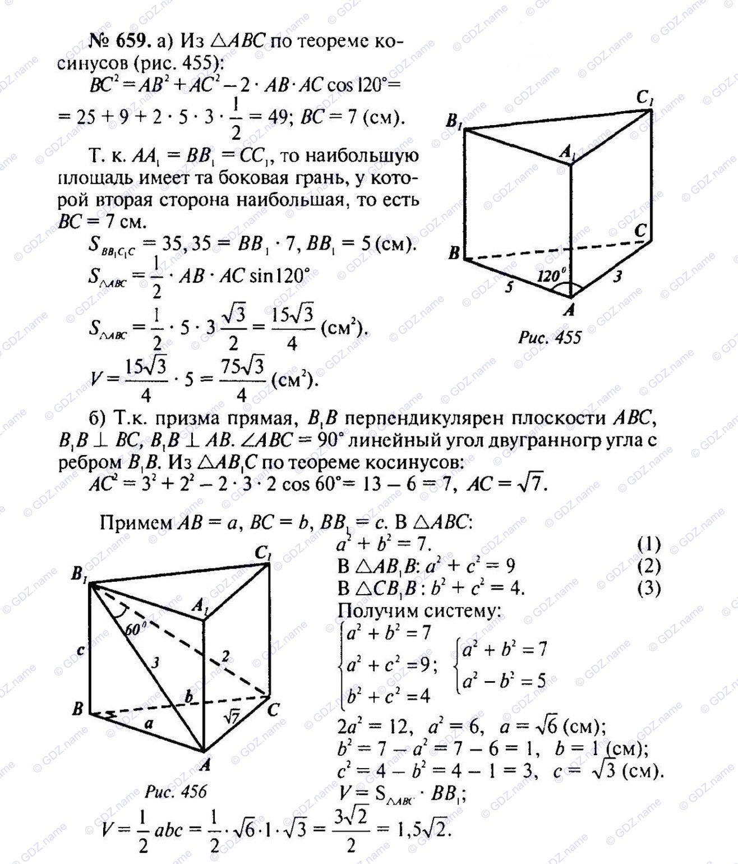 Геометрия 10-11 класс готовые домашние задания