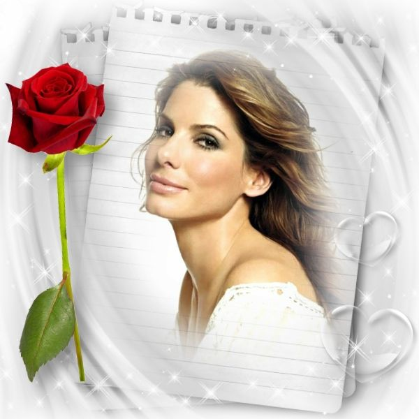 Beauty In Frame: Amazing! Red Rose Frame. Put Your Own Pic In The Frame At
