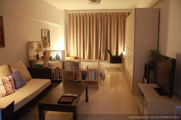 зонирование спальня-гостиная Projetos para experimentar - Como Decorar Mi Casa