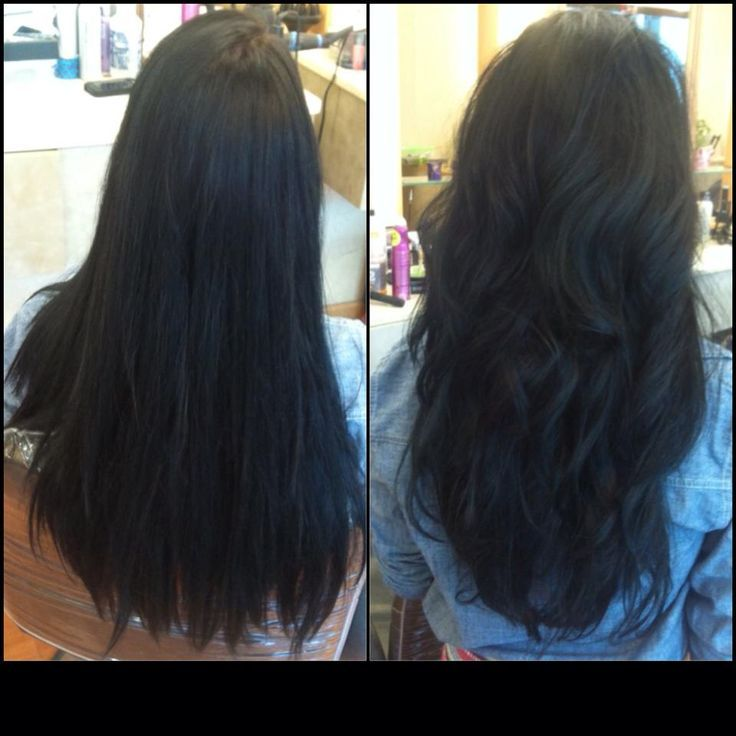 Long Straight Layered Haircuts Back and very easy