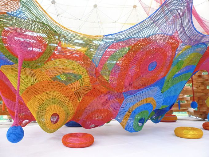 I always loved net playgrounds, the colors just make it that much better.