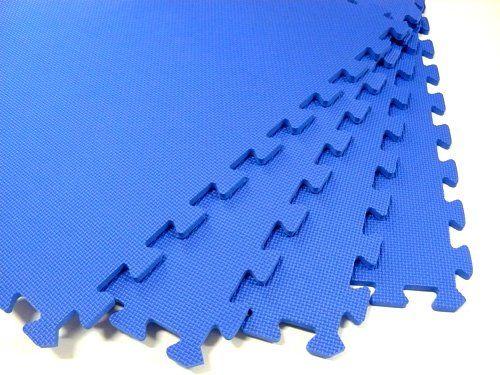 168 Square Feet 42 Tiles Borders We Sell Mats Blue 2 X 2 X 38 Antifatigue Interlocking Eva Foam Exercise Gym Flooring Be Square Feet Playmat Gym Flooring