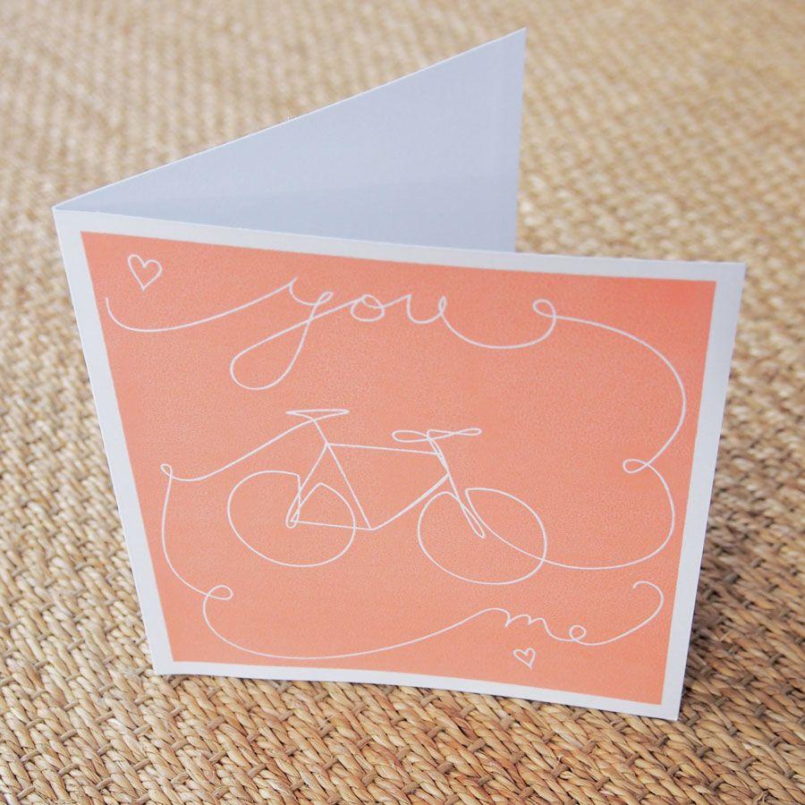 Screen print bike love greetings card annaprints anna screen print bike love greetings card annaprints kristyandbryce Image collections
