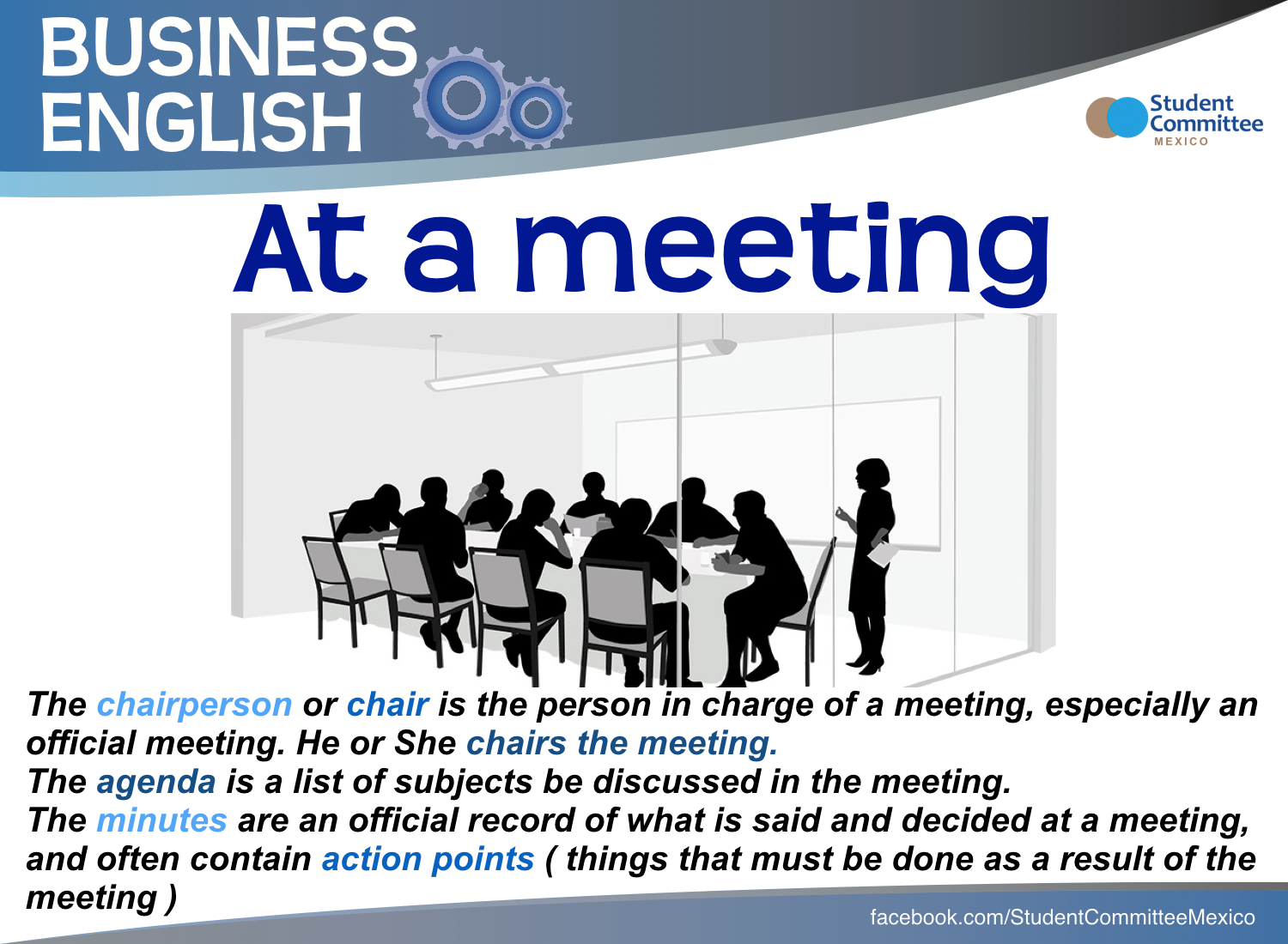 At A Meeting Business English