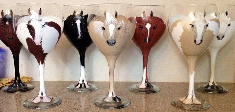 Horse wine glasses