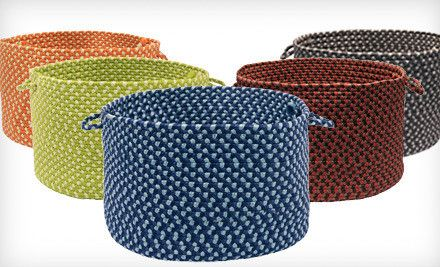 Merveilleux Braided Storage Baskets, Look Like Those Old Fashioned Braided Rugs. Made  In USA Too