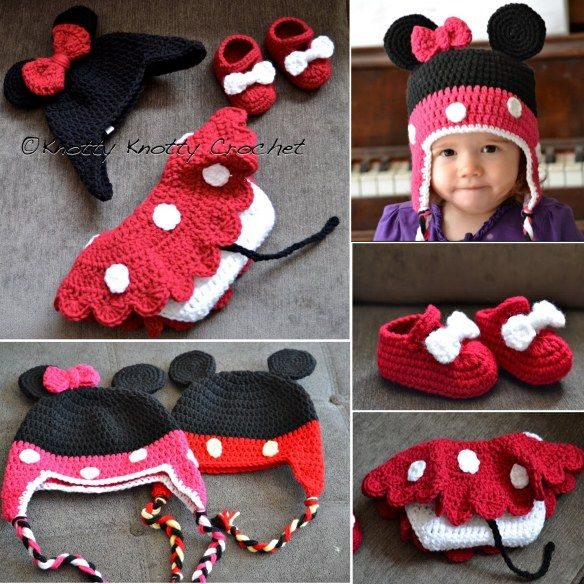 Mickey And Minnie Mouse Crochet Patterns | Pinterest | Babywäsche ...