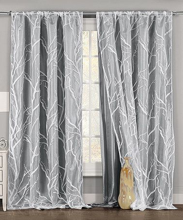 Gray White Sheer Marisol Curtain Panel Panel Curtains