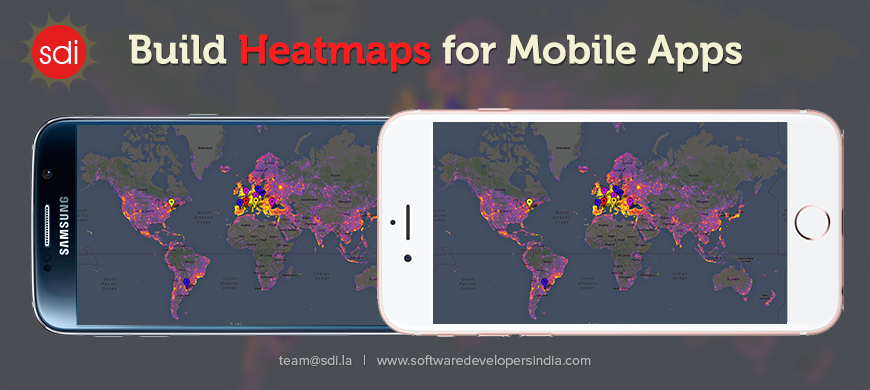 Heat maps and #data converted onto #mobileapp #iPad