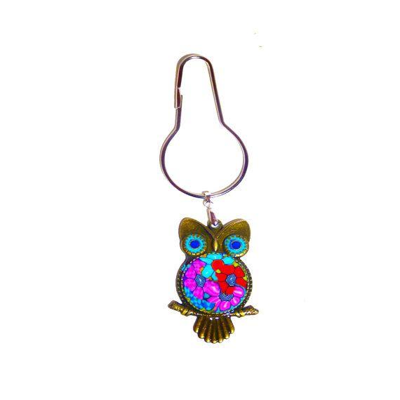 Owl key chain by MIRAKRIS on Etsy