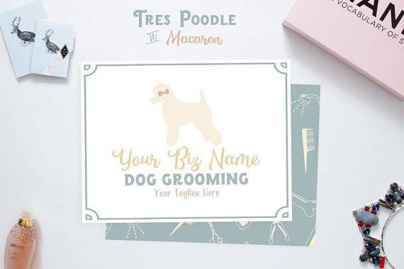 Premade Pet Groomer Logo Tres Poodle Dog By P4dessentials Dog