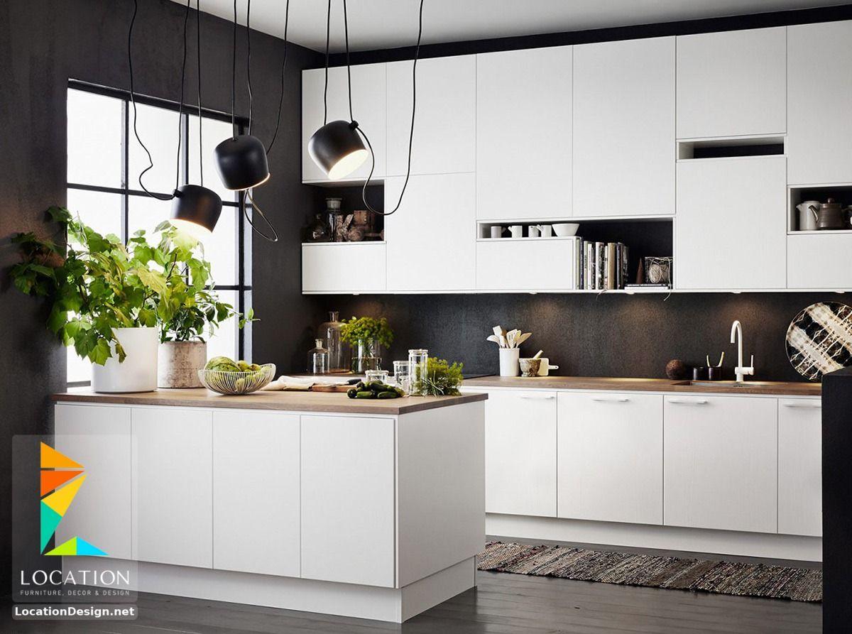 اشكال مطابخ مودرن من احدث كتالوج الوان المطابخ 2019 2020 Contemporary Kitchen Modern Kitchen Kitchen Layout