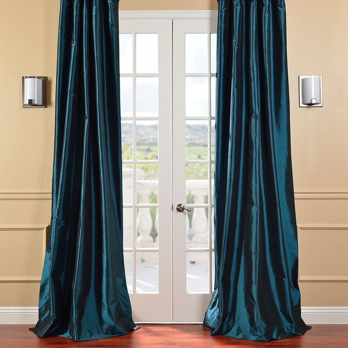 Peacock Blue Curtains Found On Wayfair Navy Blue Curtains Blue