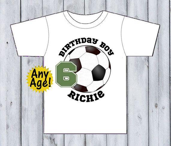1030c517e21 Birthday Boy Shirt Soccer Birthday Shirt Sports by BabyBirthdayTee ...