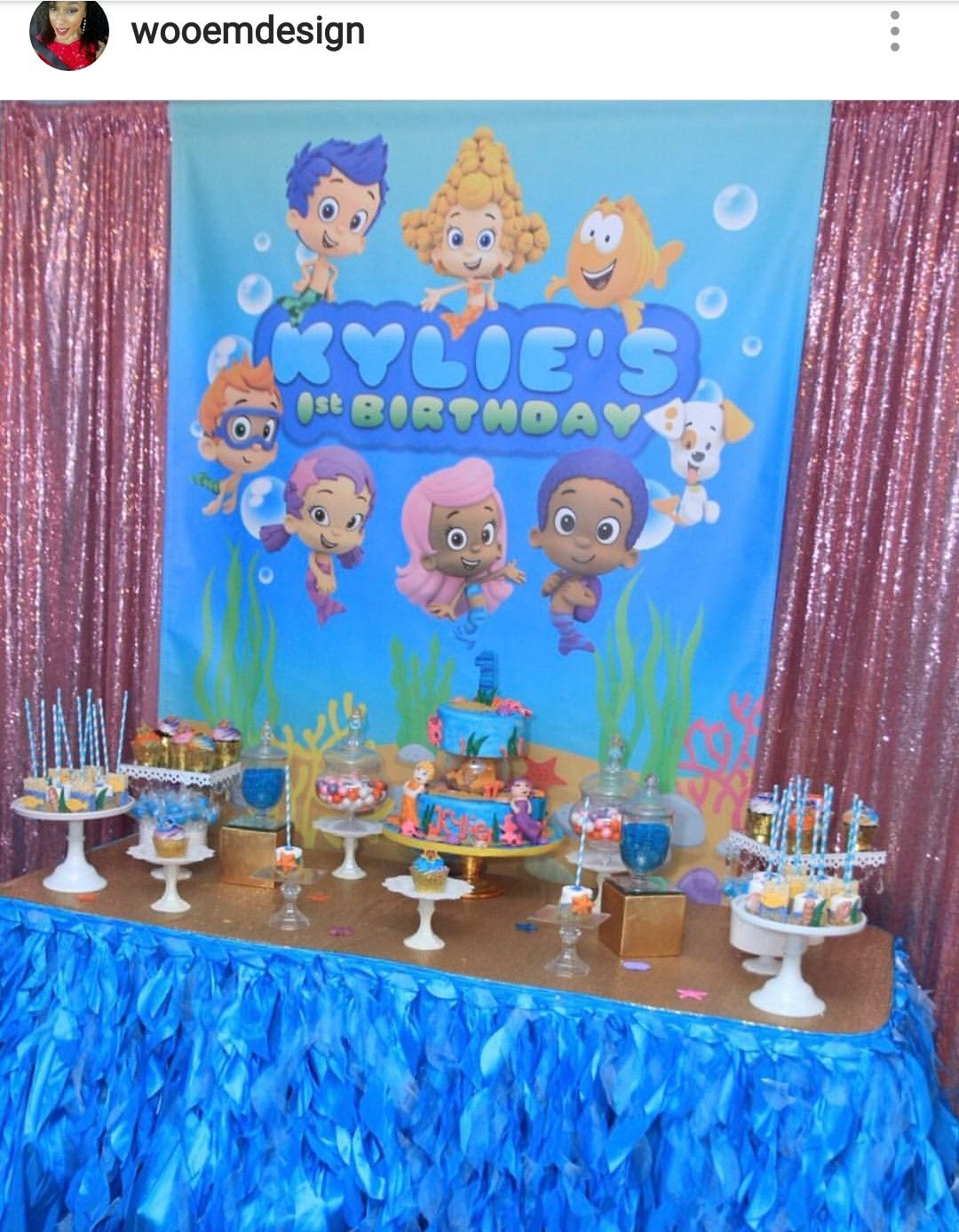 Bubble Guppies Birthday Party Dessert Table and Decor | Bubble ...