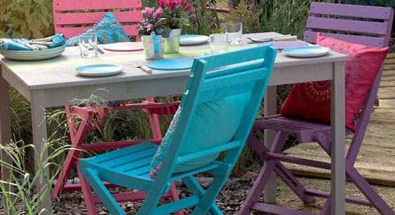 bring your garden to life with garden shades painted garden furniturefence