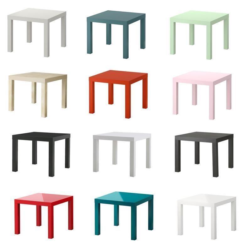 details zu ikea beistelltisch lack 55 x 55 cm in 12 farben. Black Bedroom Furniture Sets. Home Design Ideas
