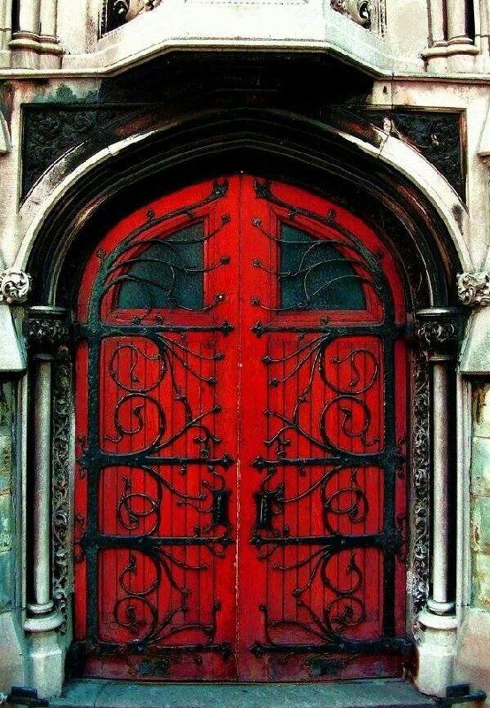 Image result for creepy red door""