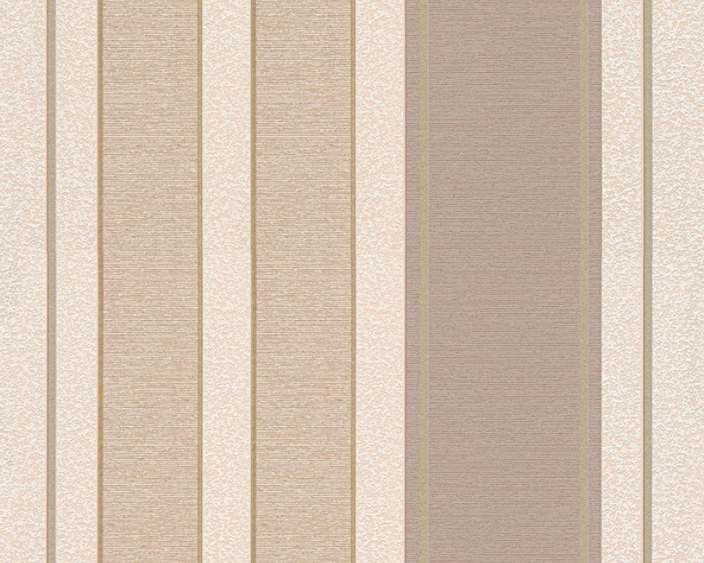 A S Creation Profiltapete Streifen Beige Braun Gold Metallics 307552 Tapeten Gestreifte Tapete Und Tapetenmuster