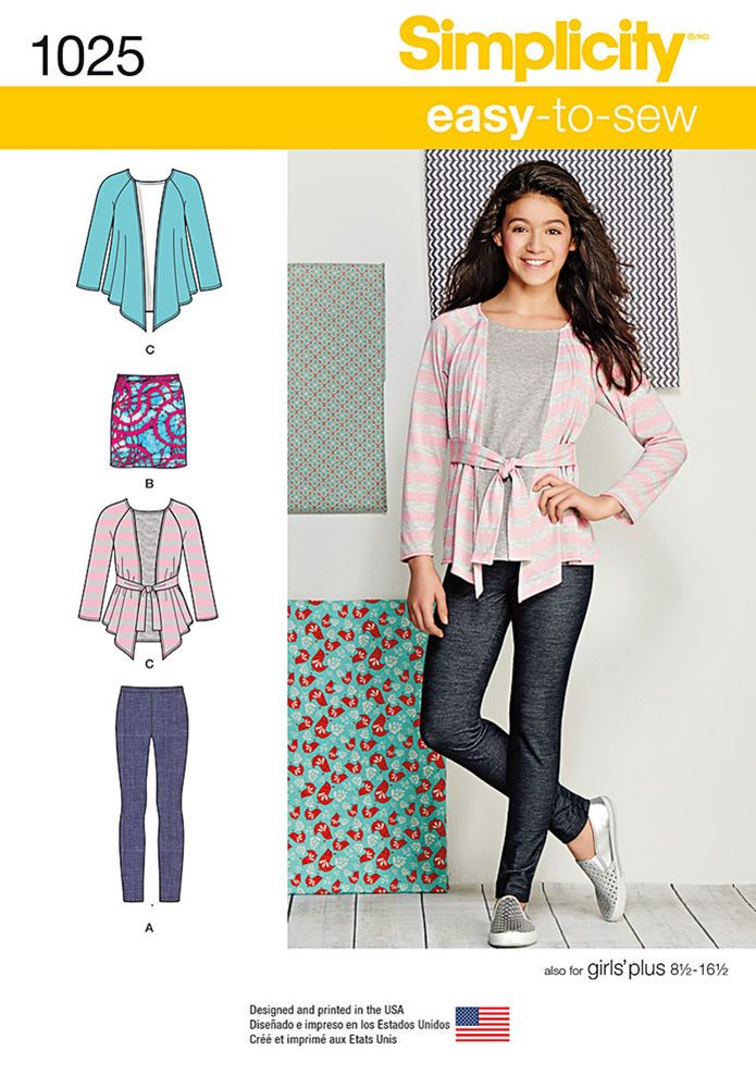 This Easy To Sew Knit Separates Pattern For Girls And Plus Size