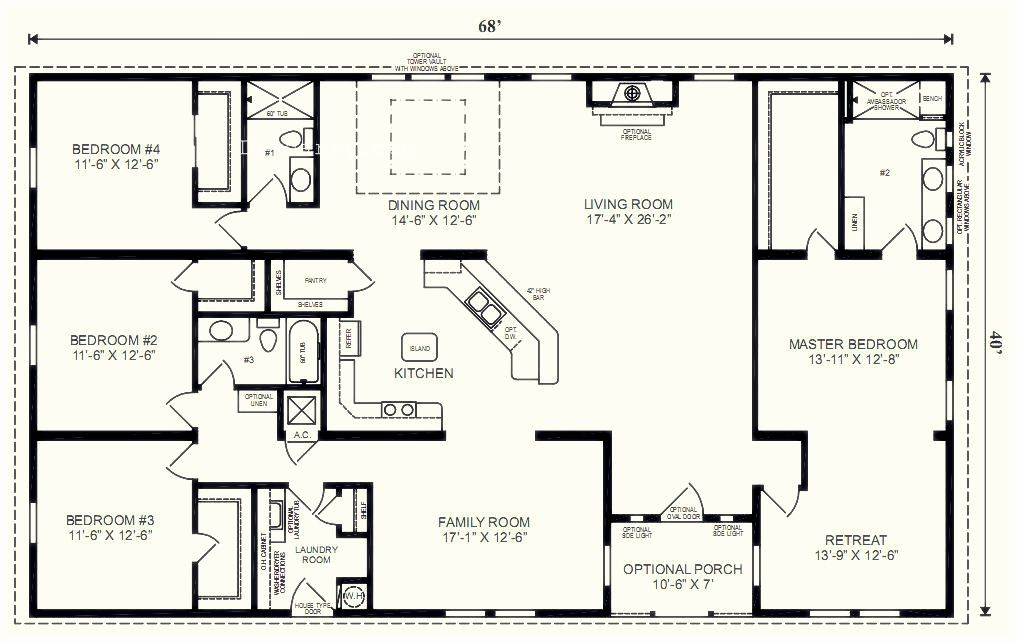 5 Bedroom Floor Plans 1 Story With Bedroom Floor Plans One Story One Story 5 Bedroom Hous Modular Home Floor Plans Ranch House Floor Plans Basement House Plans