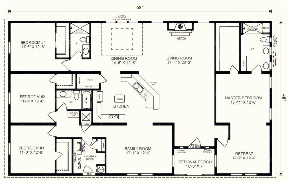 5 Bedroom Floor Plans 1 Story With Bedroom Floor Plans One Story One Story 5 Bedroom Hous Modular Home Floor Plans Ranch House Floor Plans Basement House Plans