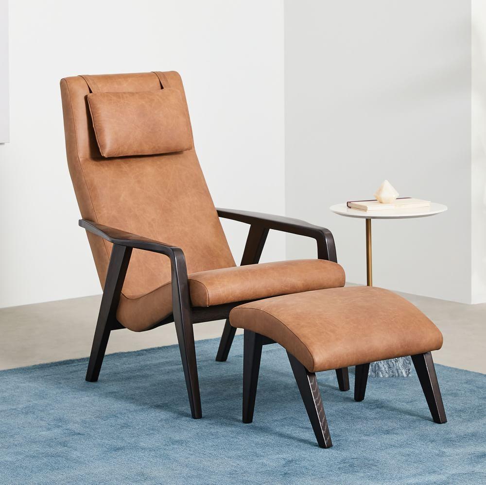 Hemming leather swivel armchair mid century leather