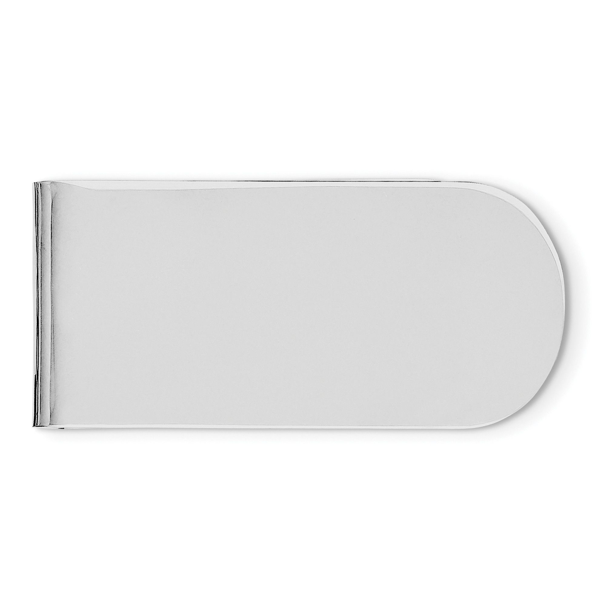 Sterling Silver Rhodium Plated Money Clip